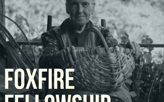 Foxfire Magazine Fellowship 2019