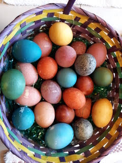 Easter Egg Dyeing with Kitchen Scraps