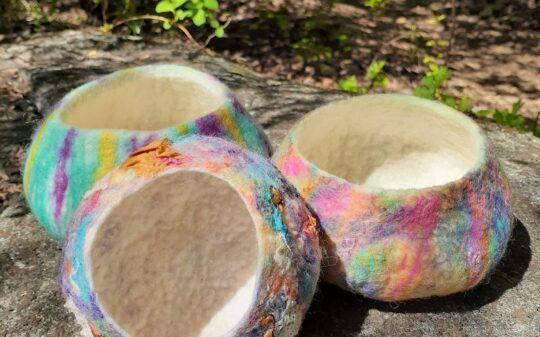 Resist Wet Felting: Making a Bowl